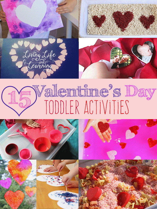 Want to have fun in February? These 15 Valentine's Day Toddler Activities are a must try with your toddlers with hands-on activities.