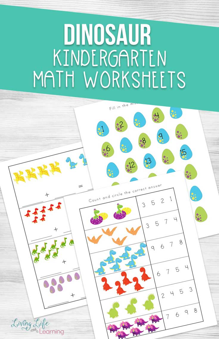 dinosaur kindergarten math worksheets. Black Bedroom Furniture Sets. Home Design Ideas