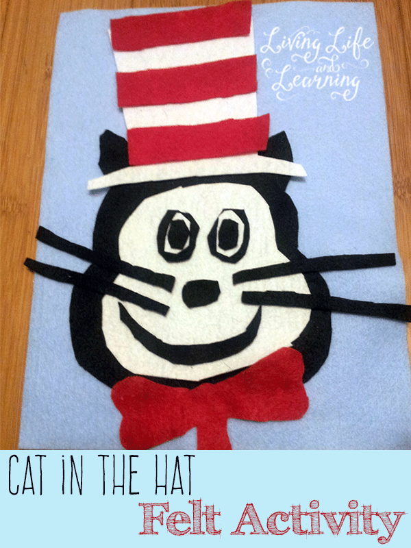 Build the Cat in the Hat any way you'd like with this simple Cat in the Hat felt activity. A wonderful quiet activity for little ones.