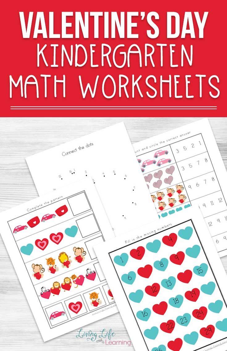 You'll love these adorable Valentine's Day Kindergarten Math Worksheets so your kids can practice their addition, subtraction and skip counting skills.
