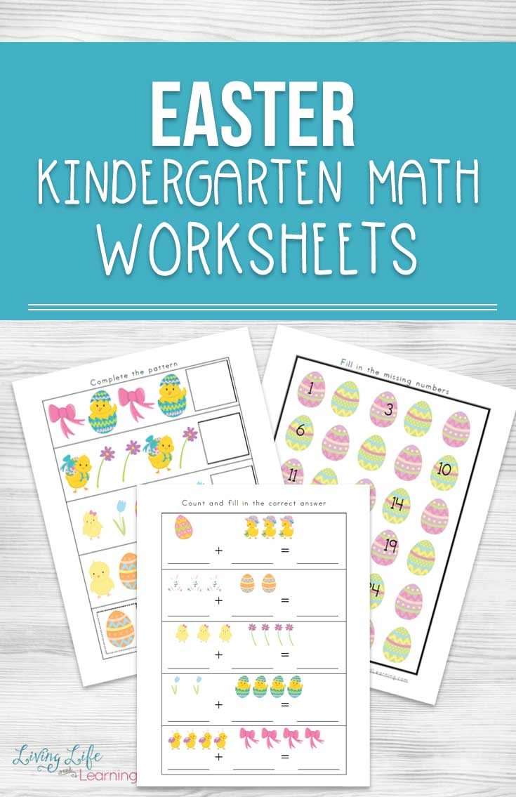 Easter Kindergarten Math Worksheets