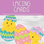 These super cute Easter Lacing Cards will be tons for fun for your preschooler and work at their fine motor skills and pre-writing skills.