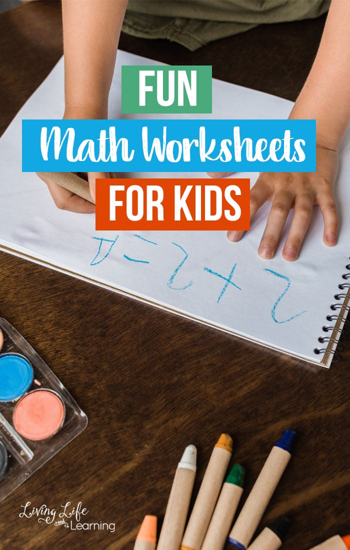 Make math fun with these awesome math printables. Fun Math Worksheets for Kids from toddlers to elementary age students in fun themes from fall to winter to ocean animals.