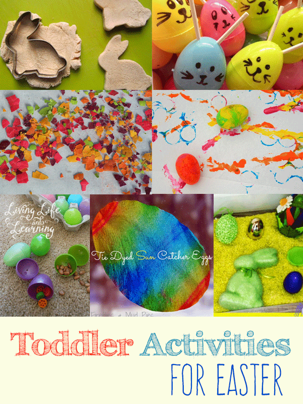 Try one of these amazing toddler activities for Easter and have tons of fun with your toddlers with Easter egg hunts, learning activities and more.