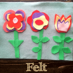 Wonderful felt flowers crafts to occupy your little ones