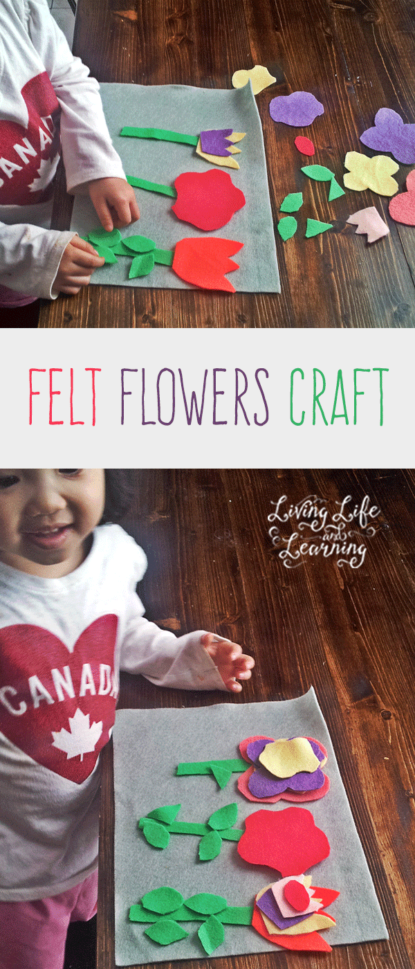 A quiet activity to keep your little ones busy Felt Flowers Craft