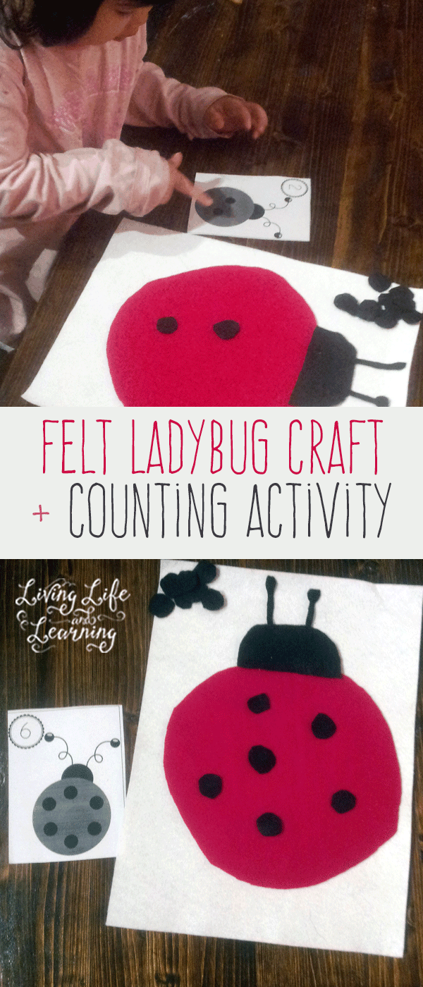 Felt Ladybug Craft and Counting Activity for Preschoolers