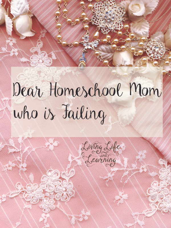 To the homeschool mom who thinks she is failing - For those days when you are feeling less than perfect and think you are failing your family