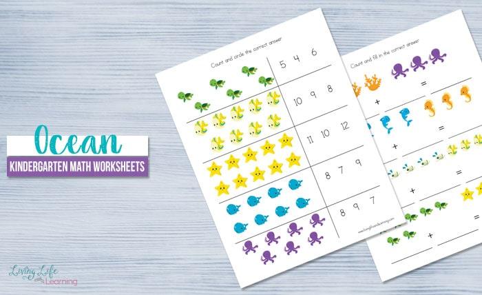 Ocean Kindergarten Math Worksheets