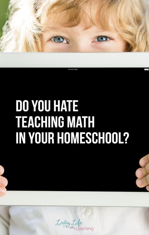 Do you hate teaching math in your homeschool? Get these math tips to make learning math at home easier for your family and less stress for you.