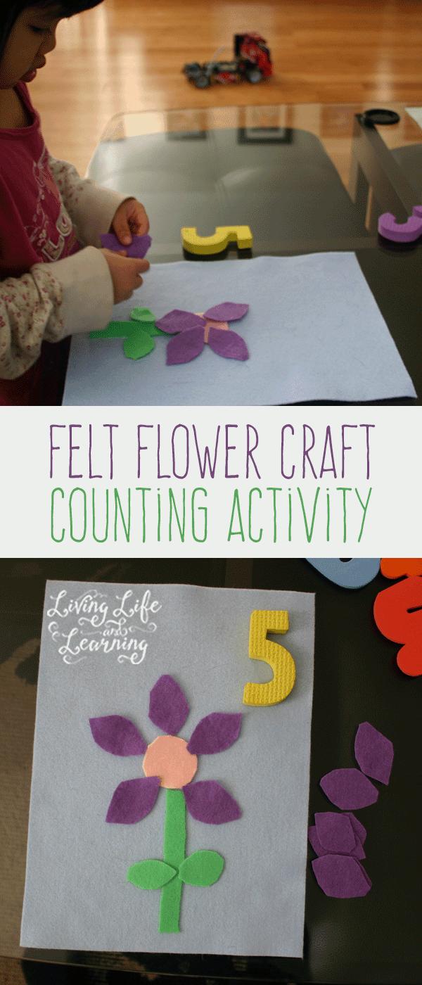 Felt Flower Craft Counting Activity