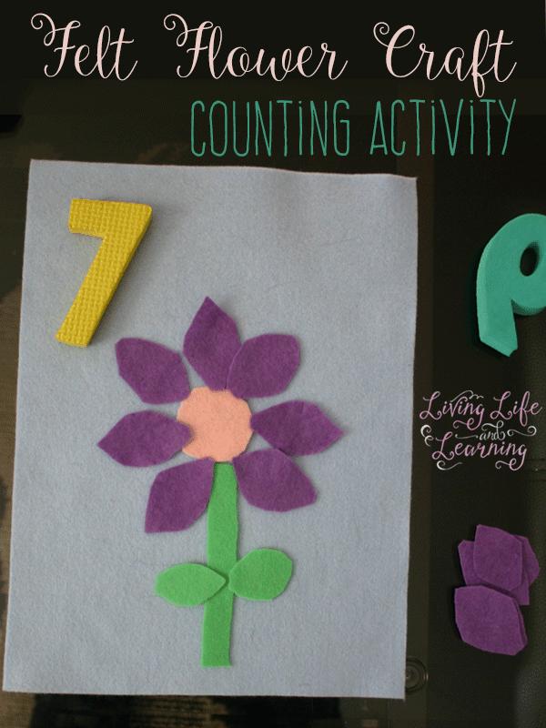 Felt Flower Craft Counting Activiity