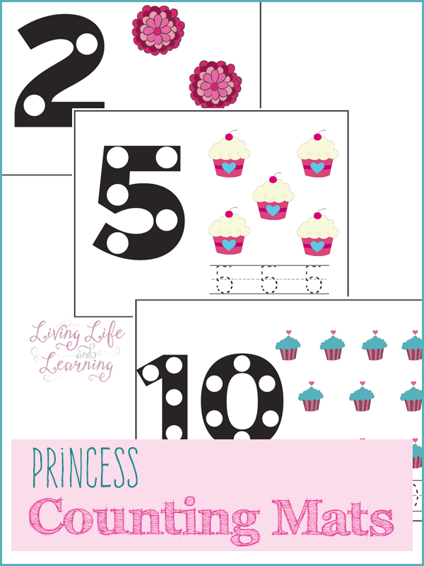 Princess Counting Mats - a counting activity for your toddler and preschooler