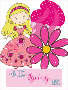 Printable Princess Lacing Cards