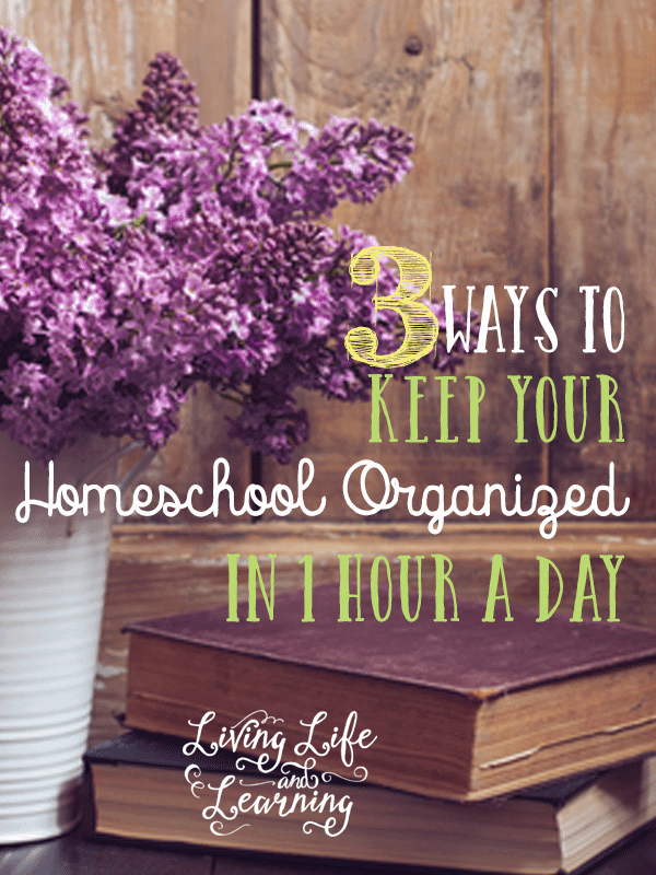 Tips to help you keep your homeschool organized in only 1 hour a day