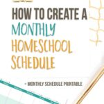 how to make a monthly homeschool schedule