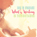 how to evaluate what is working in your homeschool