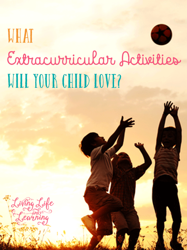 Homeschool planning is not complete without figuring out what kind of extracurricular activities your child will love
