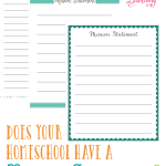 Get a handle on your homeschool and start out right by creating a mission statement for your homeschool.