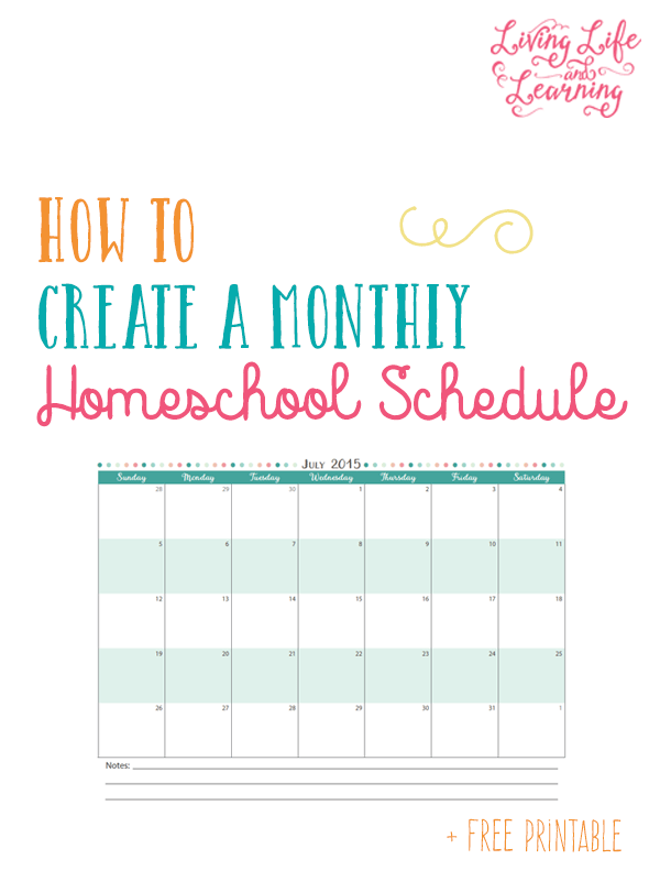 picture relating to How to Create a Printable known as How towards Produce a Month-to-month Homeschool Routine