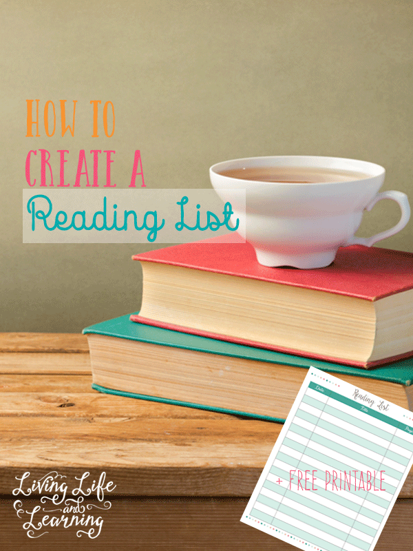 Free printable to help keep track of books with tips on how to create a reading list for your child