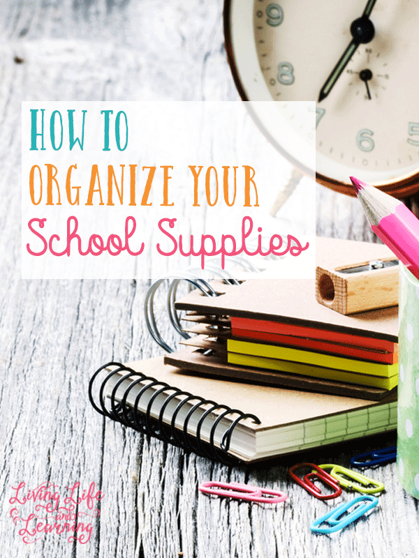 Save money and buy your supplies in August but what do you do with them after? Get tips on how to organize your school supplies so you don't buy things you already have sitting in your closet. You want to be prepared to homeschool but you don't want to spend money unnecessarily.