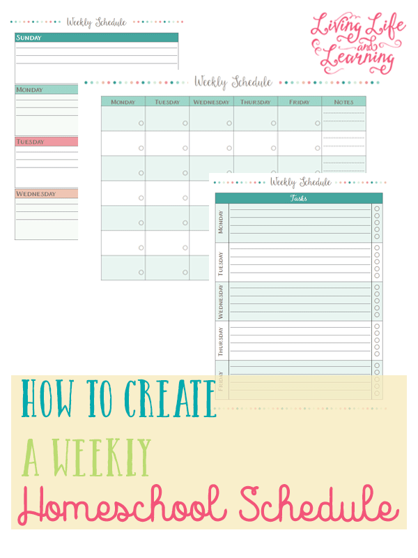 How to Create a Weekly Homeschool Schedule + Free Printable