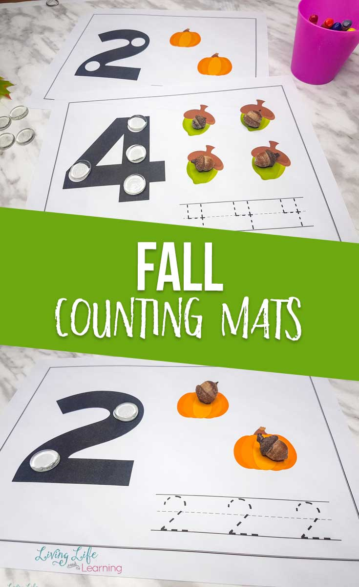 Fall Counting Mats Perfect for Preschoolers