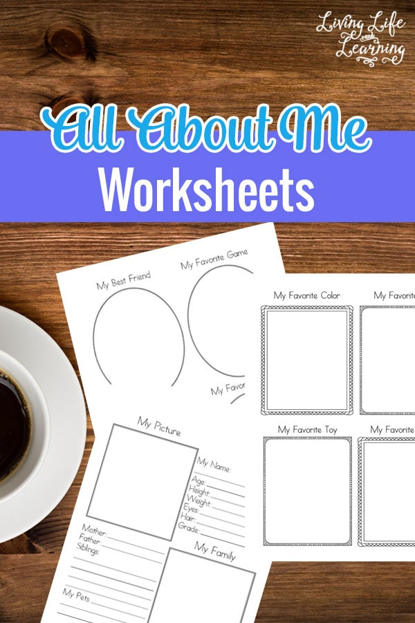A great way to keep a record of your student each year, have them fill in these all about me worksheets and see how they progress each year. #homeschool #aboutme #preschool #kindergarten #grade1