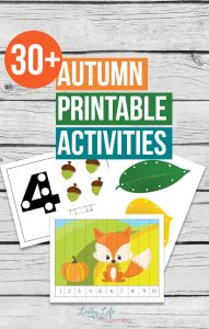Get into the Autumn spirit with these fun printables for kids. Your kids will thank you for using these Autumn Printable Activities for kids in your home. Lots of fun fall worksheets to engage your kids and make fall fun.
