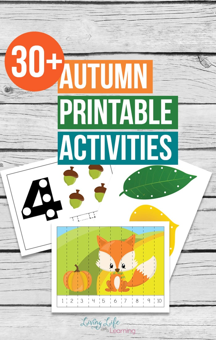 photo relating to Autumn Printable known as Autumn Printable Functions for Little ones