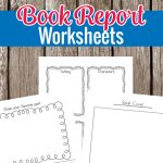 These book report worksheets are great for kindergarten or grade 1 students. There are large lines for them to easily write in with places to draw and show their creative side as well. #homeschool #earlylearning #bookreport #reading #education