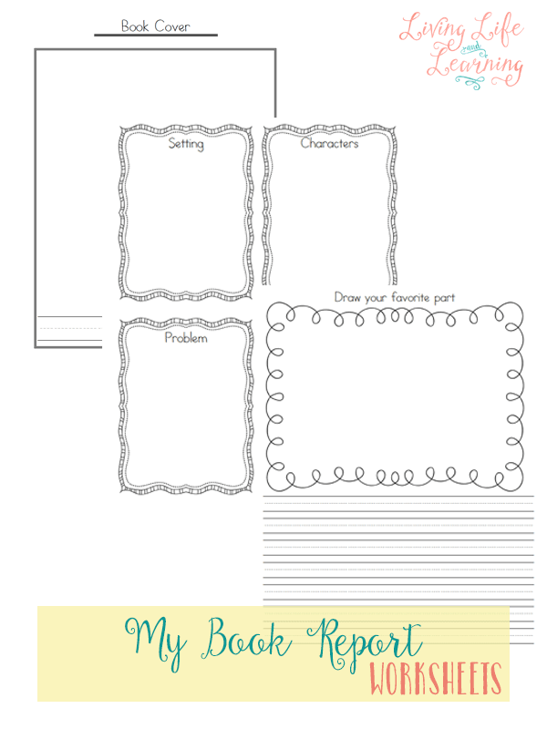 These book report worksheets are great for kindergarten or grade 1 students. There's large lines for them to easily write in with places to draw and show their creative side as well.