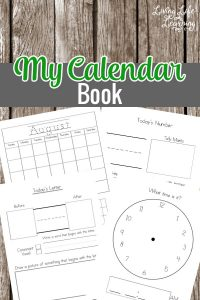 Teach your child to keep track of the days of the week, letters and numbers with these My Calendar Book printables - perfect for preschool and kindergarten students! #preschool #kindergarten #learning #homeschool #education #calendar