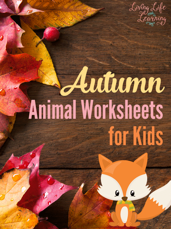 Autumn Animal Worksheets For Kids