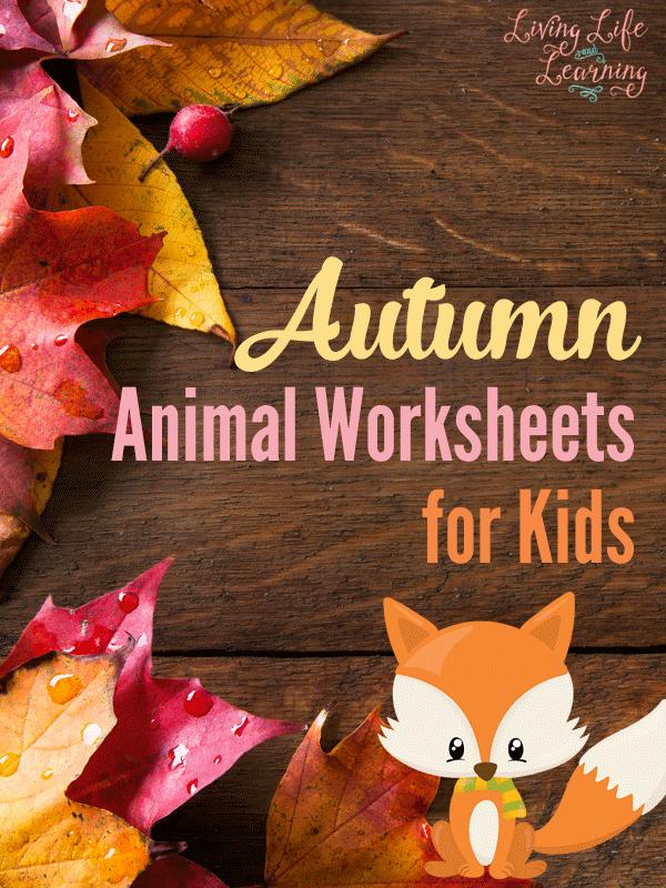 Autumn Animal Worksheets for Kids