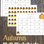 Spruce up your homeschool Math time with these fun and season Fall Math Worksheets for 2nd grade! They are perfect for the season, and your child!