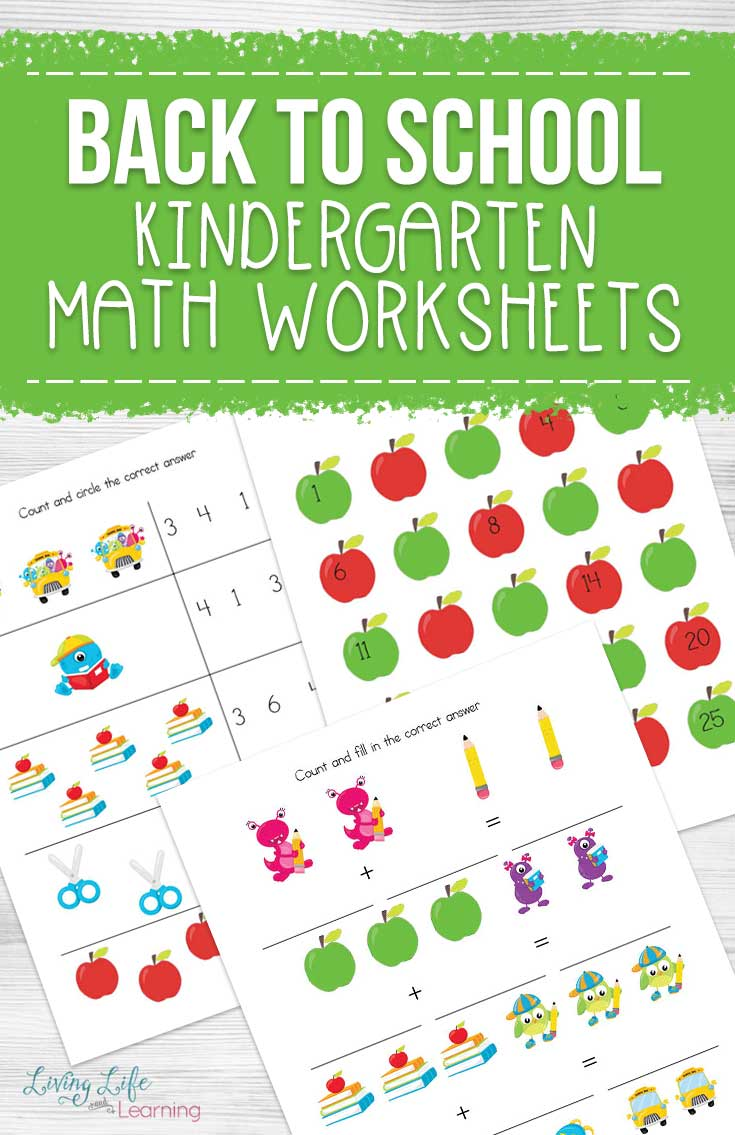 - Back To School Kindergarten Math Worksheets