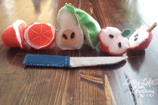 Felt fruit craft ideas