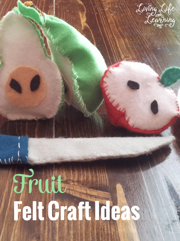 These fun fruit felt crafts are perfect for pretend play