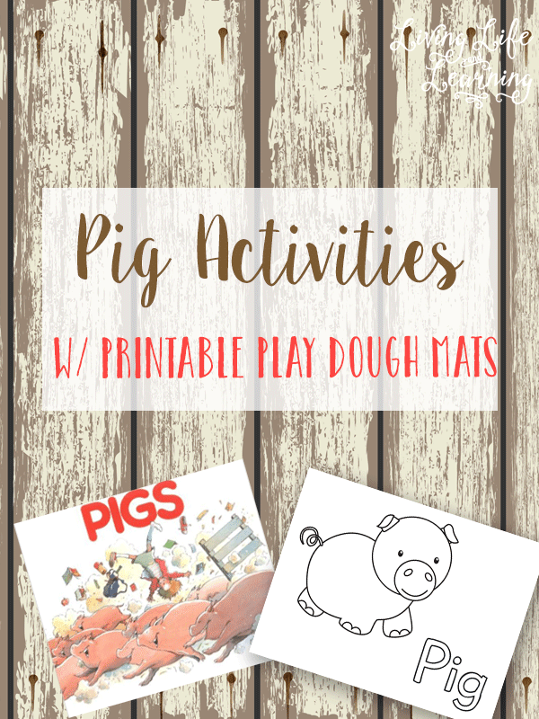 Grab your printable play dough mats to go with the Robert Munsch book Pigs