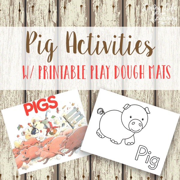 Have some piggy fun with these printable pig play dough mats
