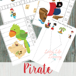 Get into your pirate spirit with these cute pirate preschool printables to practice counting and fine motor coordination