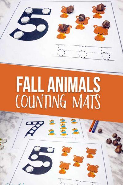 Fall Animals Counting Mats