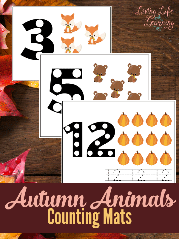 Head into the Fall season with these adorable Fall animals counting mats which are great for toddlers and preschoolers. Perfect for Fall learning!