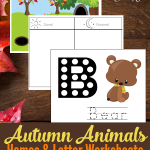 Learning all about animals during the Fall season is the best! These Fall Animals Homes Worksheets for so much fun to complete with your child!