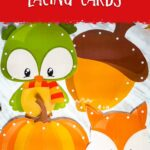 Fall Animals Lacing Cards