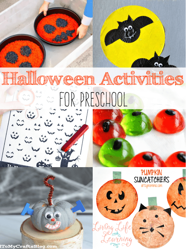 A great way to create some fun projects with these Halloween preschool activities