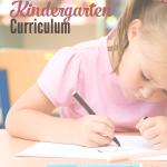 Kindergarten homeschool curriculum