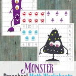 If your little ones love the idea of Monsters and think they are cute, why not use these fun Monster Preschool Math Worksheets in their homeschooling lessons? They're too cute to be scary!